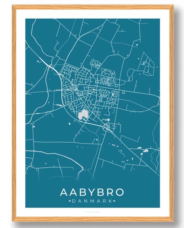 Aabybro plakat - blå