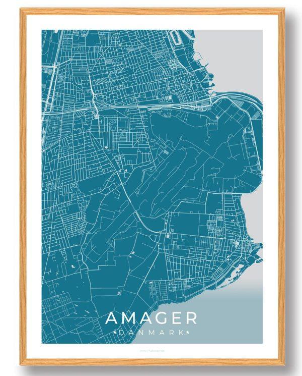 Amager plakat - blå