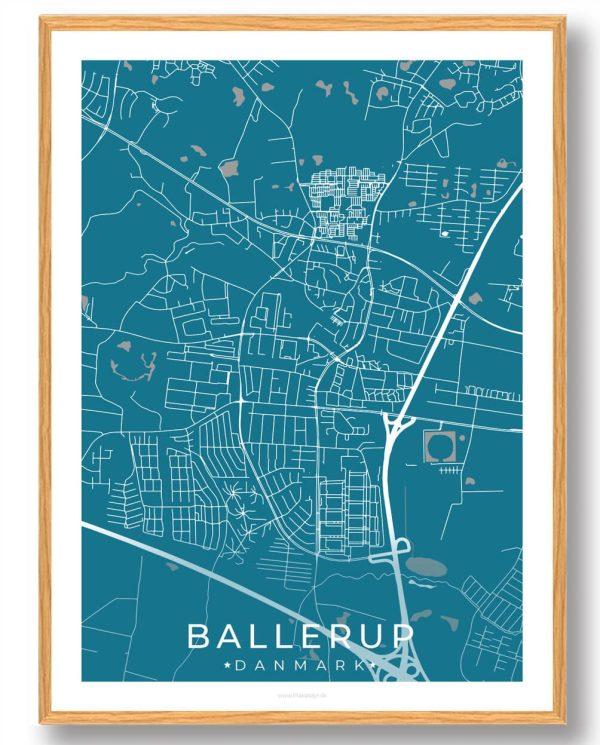 Ballerup plakat - blå