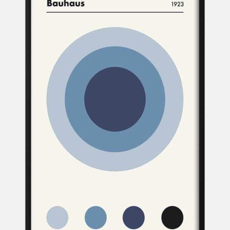 Bauhaus Blue 1923 plakat