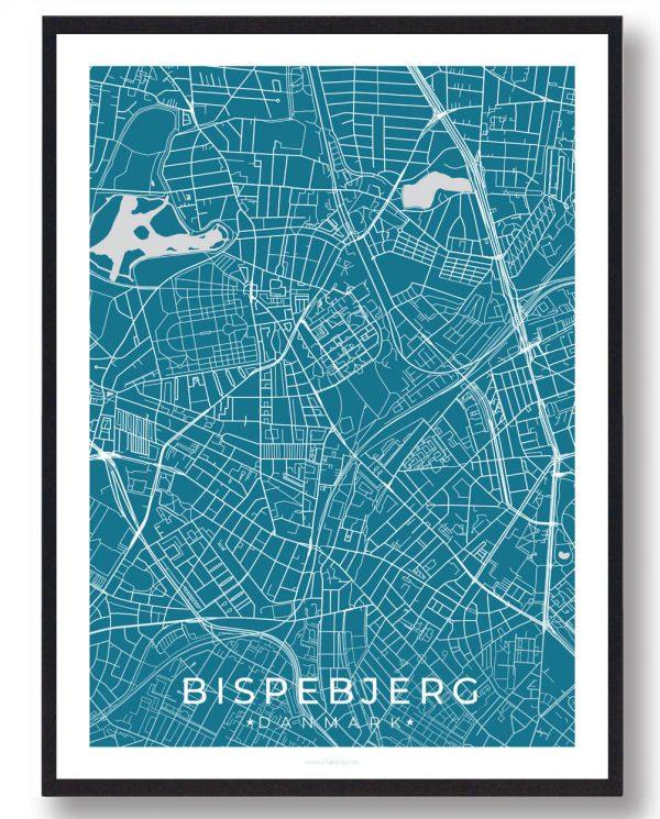 Bispebjerg plakat - blå