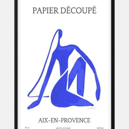 Blue By Casette Bleue Plakat til Stuen