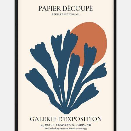 Blue Coral Decoupe Plakat