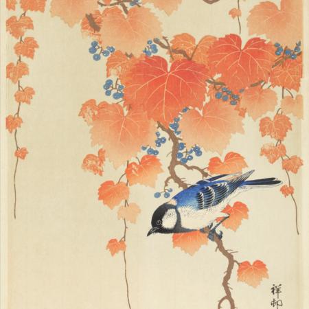 Blue bird - Japansk kunstplakat