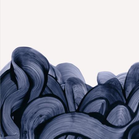 Blue fingerpaint plakat