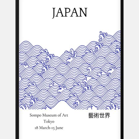 Blue from Japan Exhibition Plakat