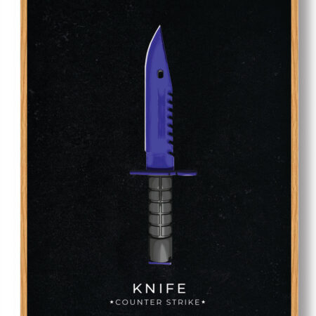Blue knife - CS gamerplakater