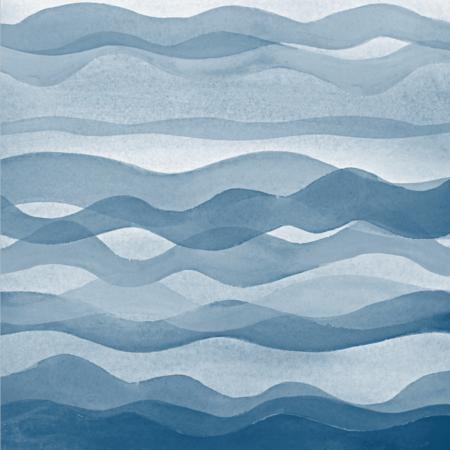 Blue waves plakat