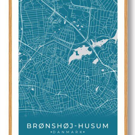 Brønshøj-Husum plakat - blå