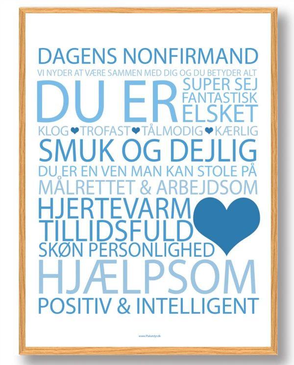 Dagens nonfirmand plakat - blå