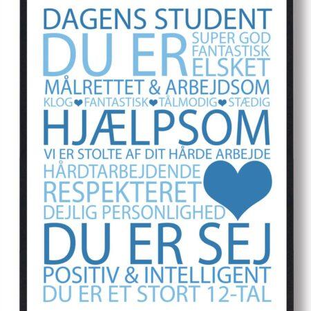 Dagens student plakat - blå