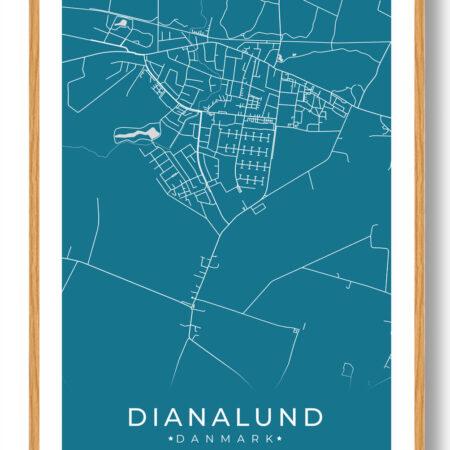 Dianalund plakat - blå