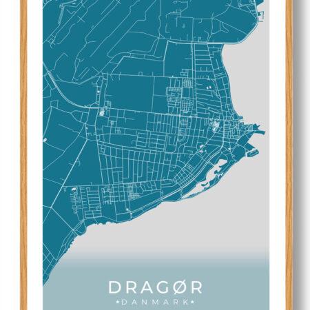 Dragør plakat - blå