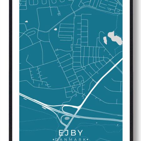 Ejby byplakat - blå