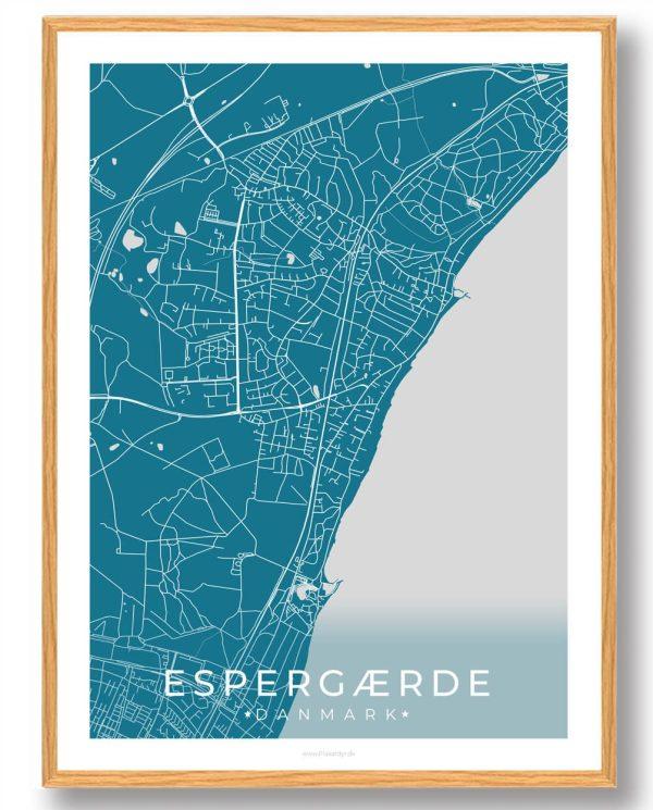 Espergærde plakat - blå