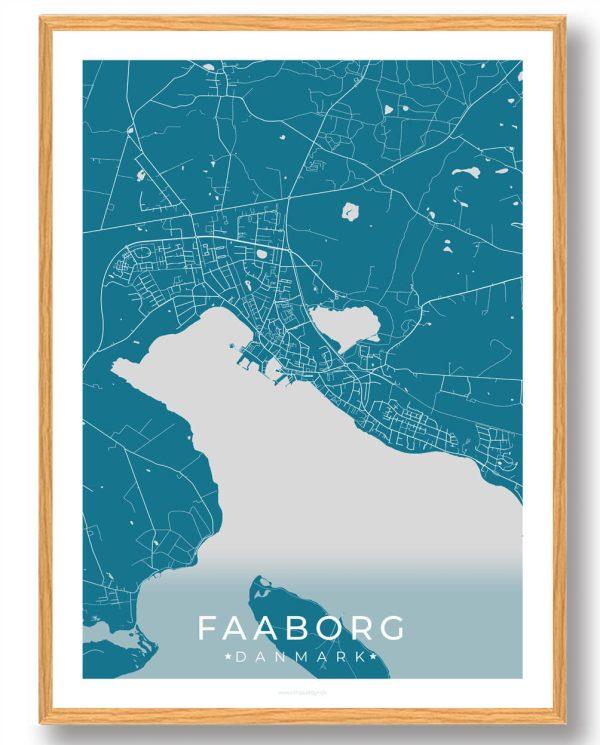 Fåborg plakat - blå