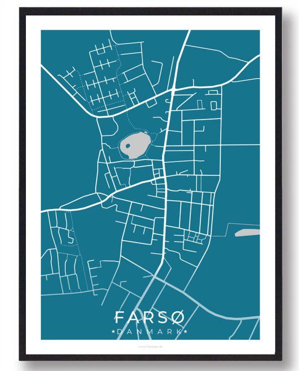Farsø byplakat - blå