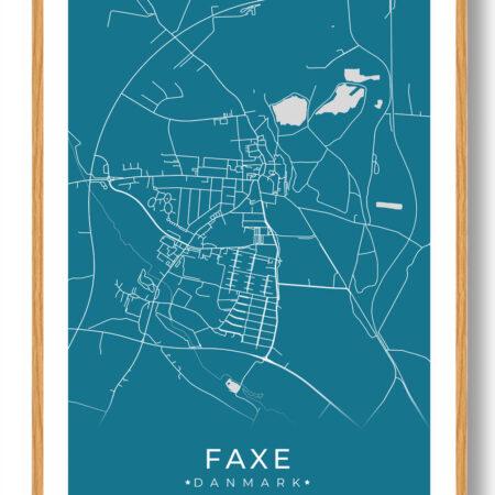 Faxe plakat - blå