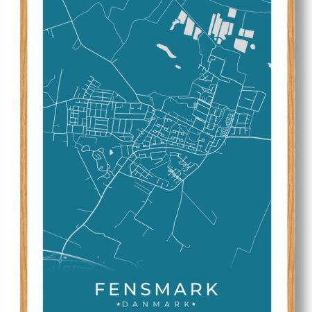 Fensmark plakat - blå
