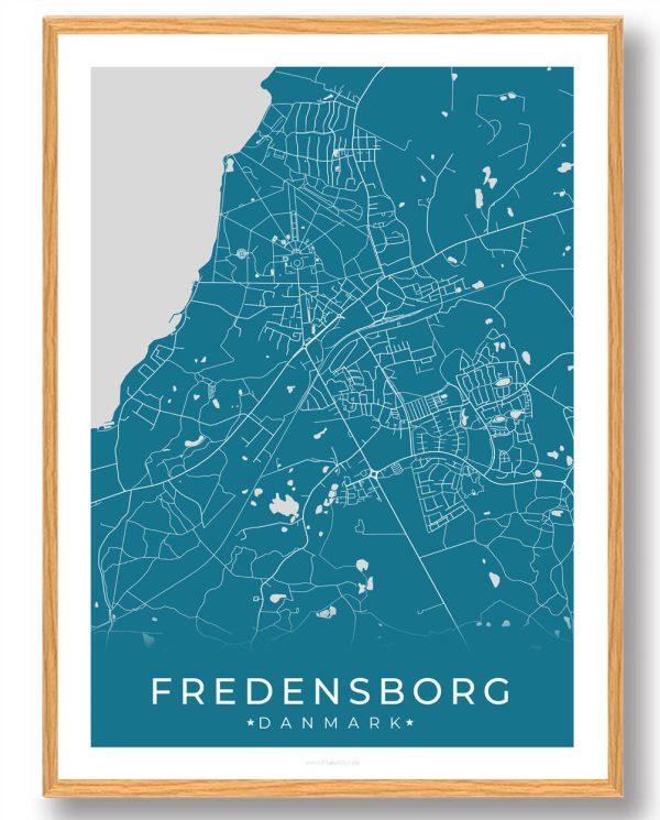 Fredensborg plakat - blå