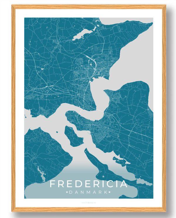 Fredericia plakat - blå