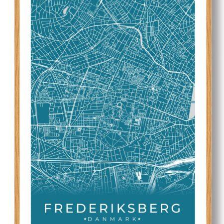 Frederiksberg plakat - blå