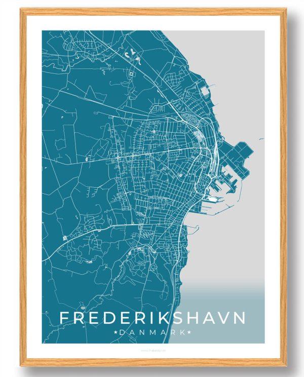 Frederikshavn plakat - blå