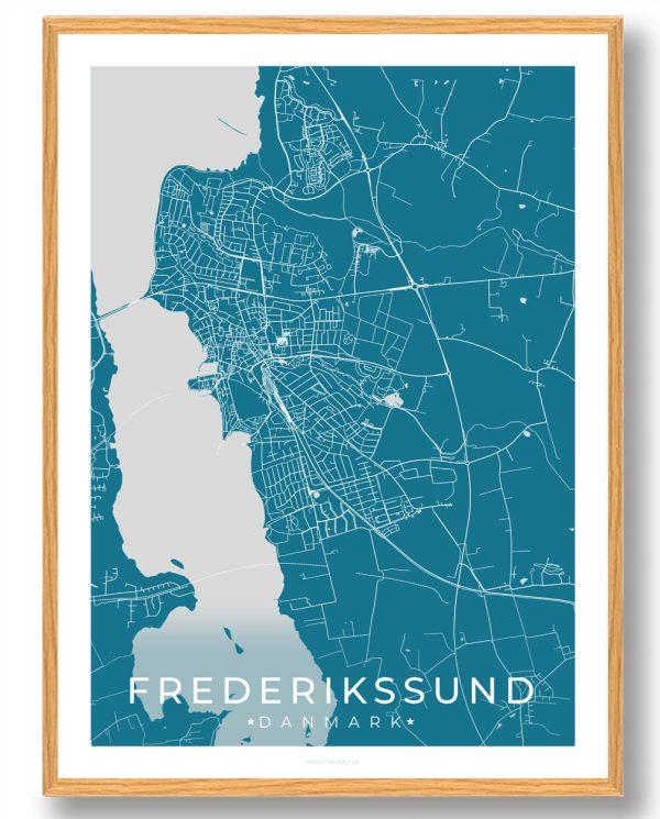 Frederikssund plakat - blå