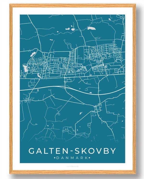 Galten-Skovby plakat - blå