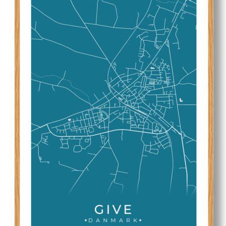 Give plakat - blå