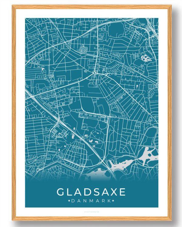 Gladsaxe plakat - blå