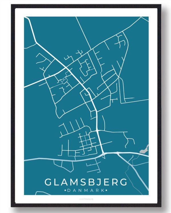 Glamsbjerg byplakat - blå