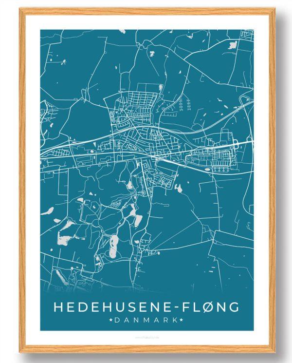 Hedehusene-Fløng plakat - blå