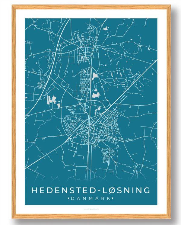 Hedensted-Løsning plakat - blå