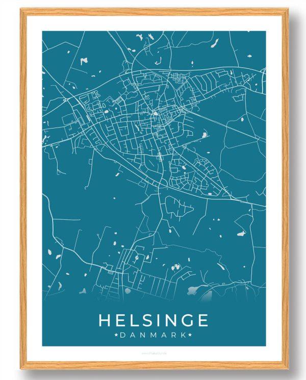 Helsinge plakat - blå