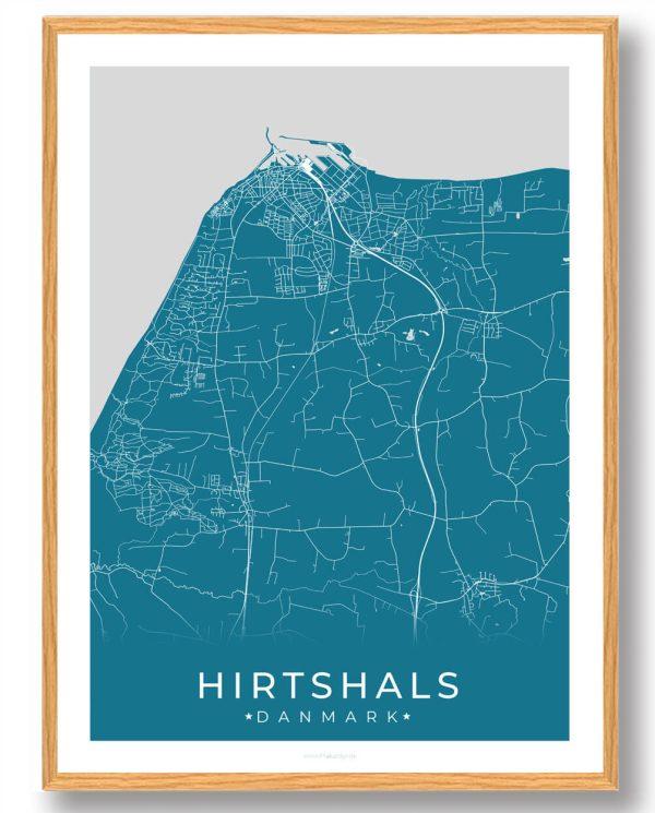 Hirtshals plakat - blå