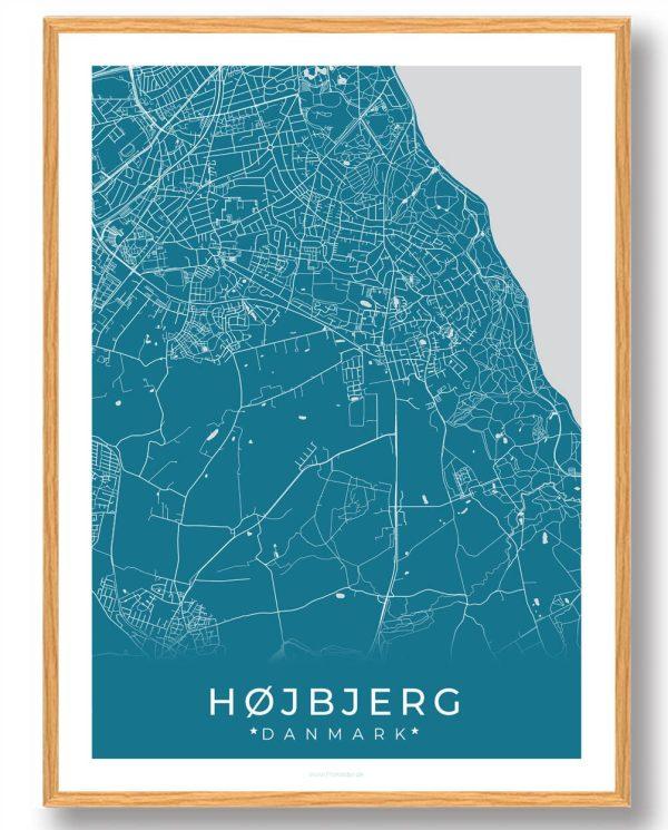 Højbjerg plakat - blå