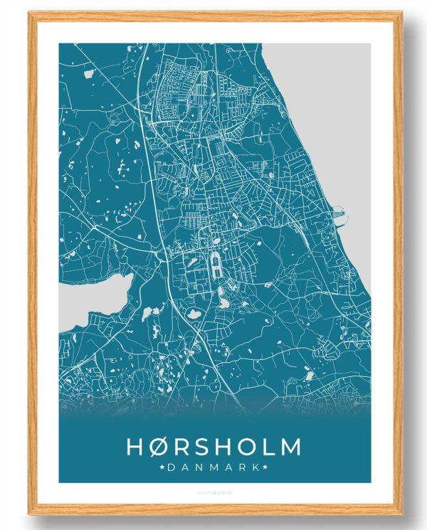 Hørsholm plakat - blå