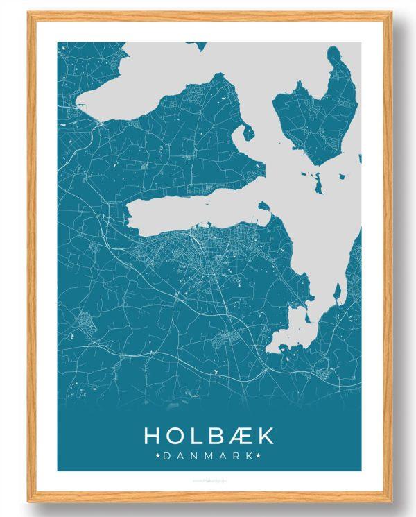 Holbæk plakat - blå