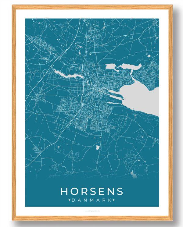 Horsens plakat - blå