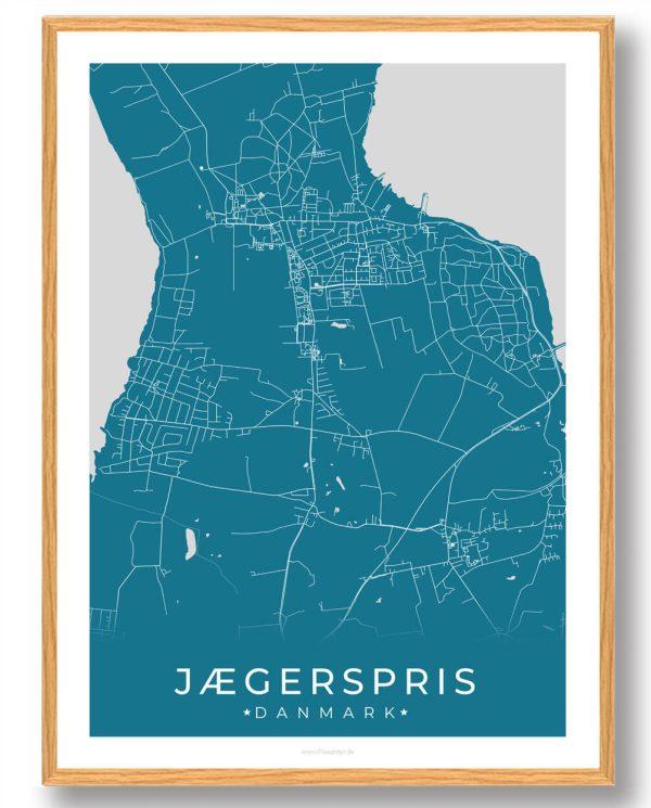 Jægerspris plakat - blå
