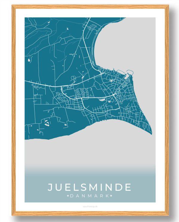 Juelsminde plakat - blå