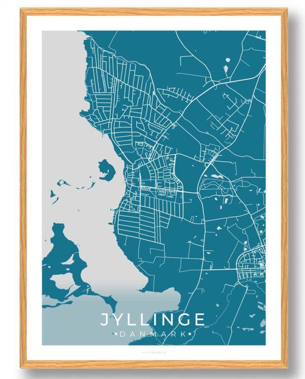 Jyllinge plakat - blå