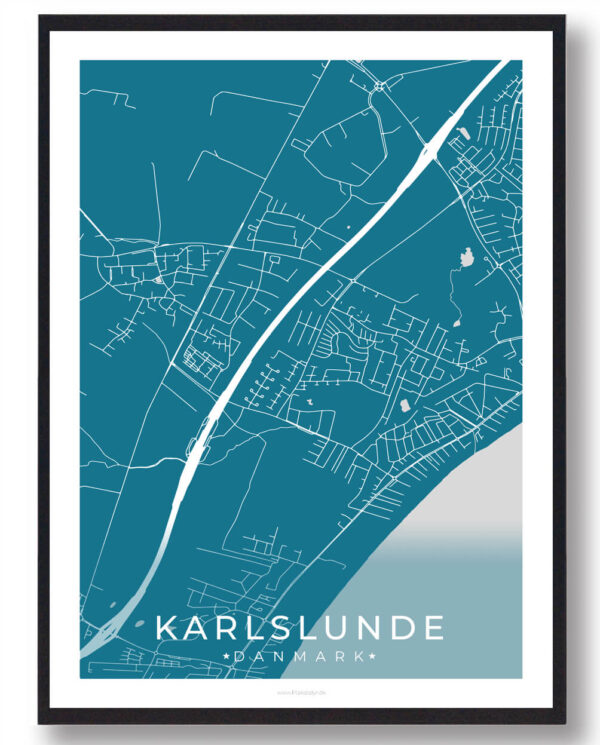 Karlslunde plakat - blå