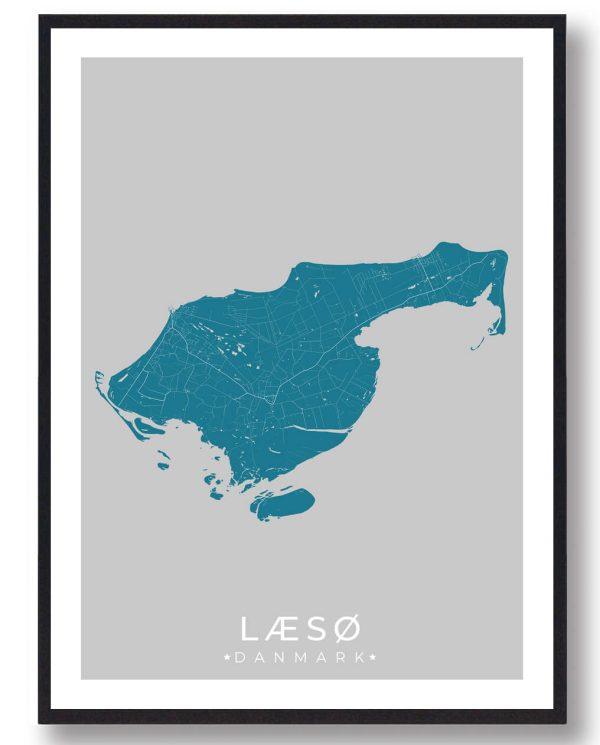 Læsø plakat - blå