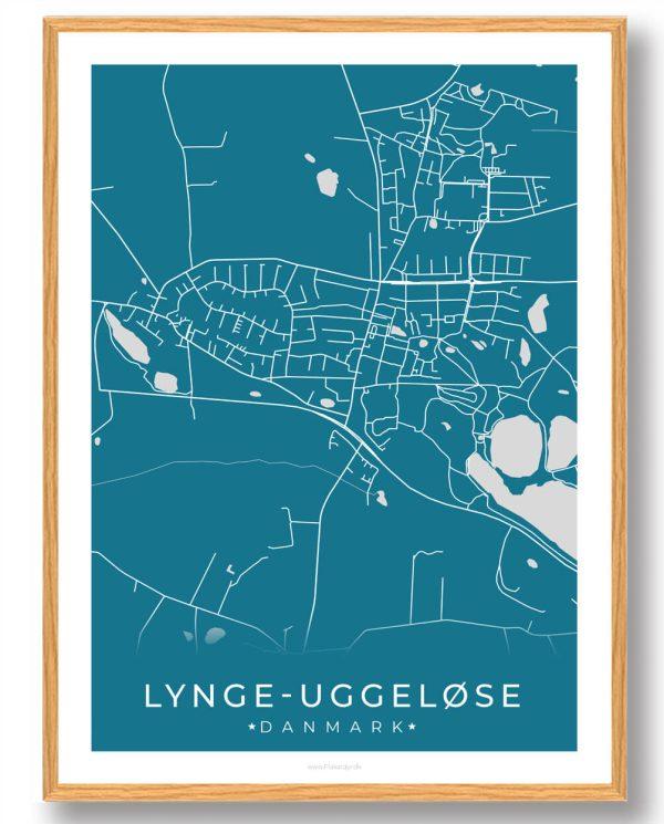 Lynge-Uggeløse plakat - blå
