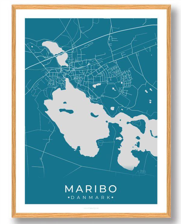 Maribo plakat - blå