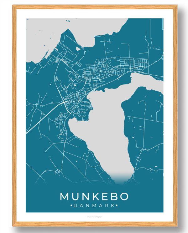 Munkebo plakat - blå