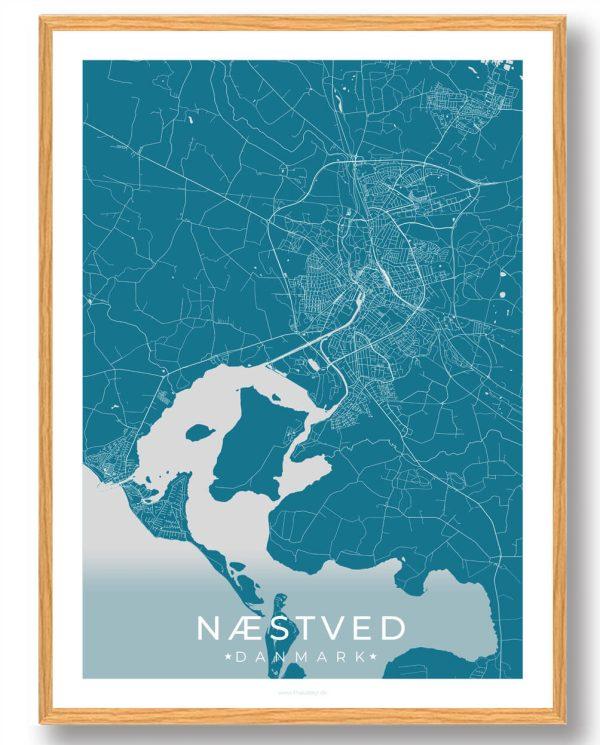 Næstved plakat - blå