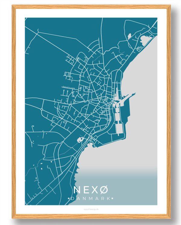 Nexø plakat - blå